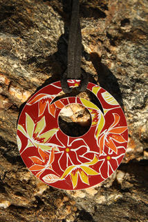 Holly Roach Clematis Pendant