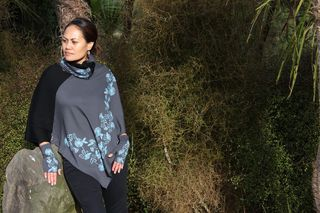 Koru and Pohutukawa Multiwear Poncho