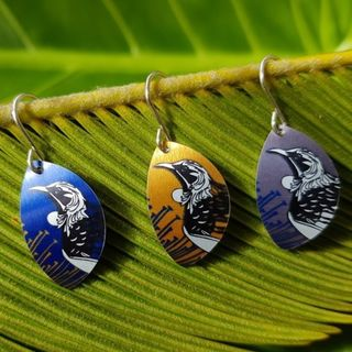 Native Tui Oval Hook Earrings