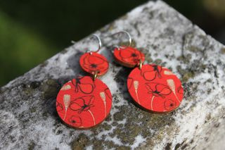 Soulmate Poppy Double Dangle Earrings