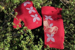 Lucky Red Piwakawaka and Tivaevae Merino Mitts